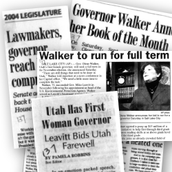 Governor Walker Newspaper Clippings